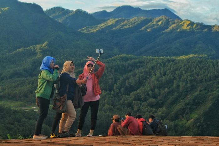 selfie gunung banyak